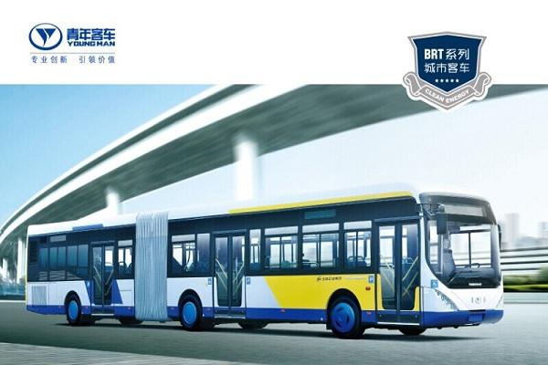 青年JNP6181GC公交车(天然气国四30-62座)