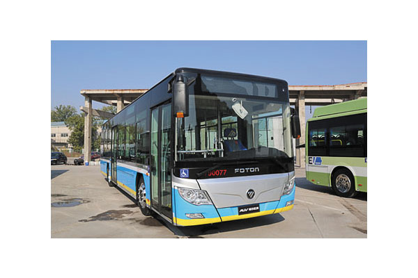 福田欧辉BJ6123PHEVCA-10城市客车(柴油/电混合国五10-46座)