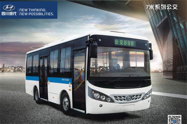 四川现代CNJ6730JQDM公交车