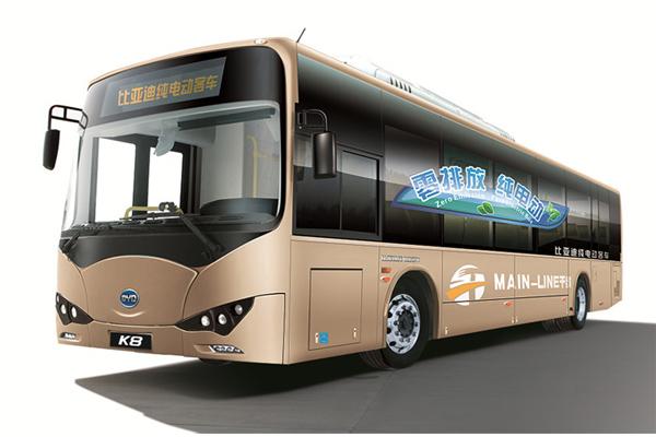 比亚迪BYD6100LGEV4公交车(纯电动20-39座)