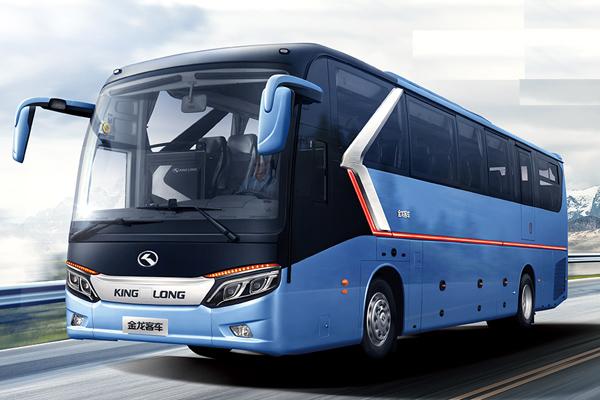3金龙龙威2代车型外观图-蓝色