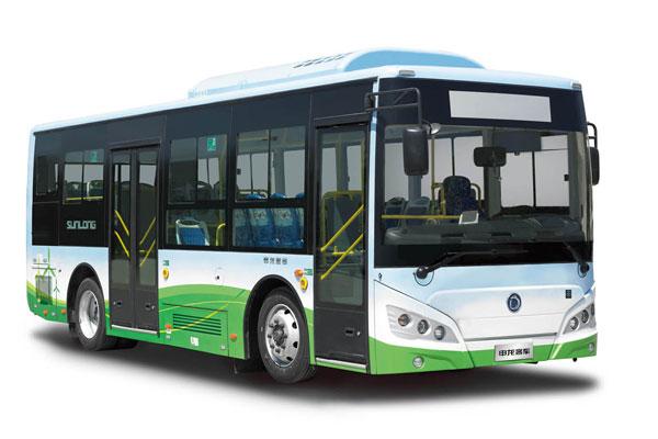 申龙SLK6859UQFCEVH公交车左侧
