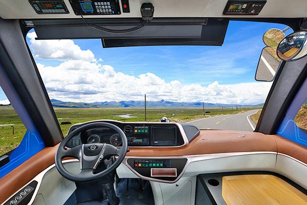 XML6606JEV金旅星辰无人驾驶系列城市客车仪表图