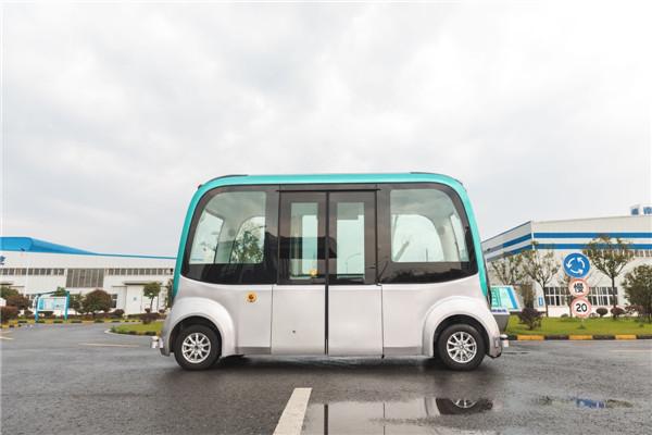 """南京金龙""""蓝鲸号""""无人驾驶旅游观光车(纯电动8座)"""