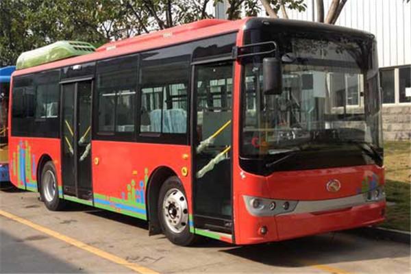 金龙XMQ6850AGCHEVN56插电式公交车(天然气/电混动国五15-30座)