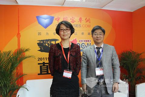 南京泰晟总经理田海霞做客中国客车网直播间