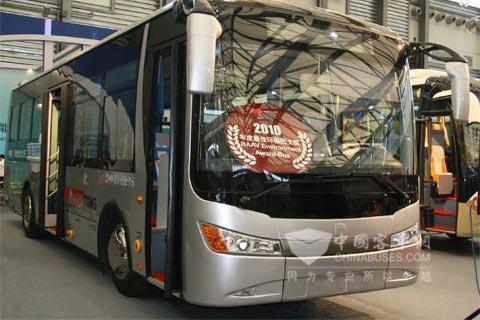中通LCK6101GEV型十米级混合动力(AMT)公交车
