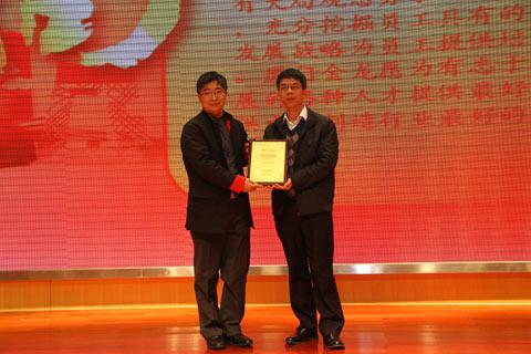2011年度客车行业最佳雇主获奖企业代表领奖