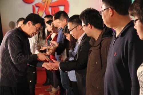 2015年度中国客车市场推荐客车获奖企业代表领奖